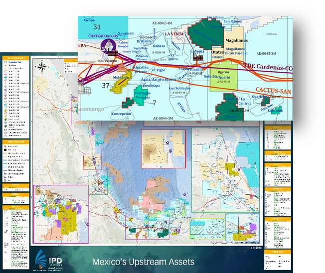 IPD Latin America Mexico Oil & Gas Maps